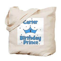 1st Birthday Prince Carter! Tote Bag