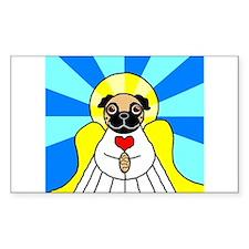 Pug Angel - Fawn Decal