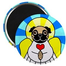 "Pug Angel - Fawn 2.25"" Magnet (10 pack)"