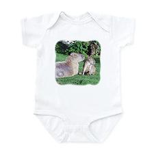 Capybara Mom and Son Infant Creeper