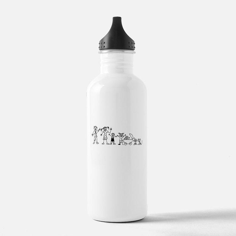 My Zombie Family Water Bottle