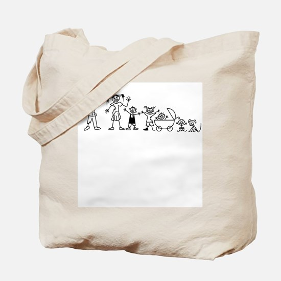 My Zombie Family Tote Bag