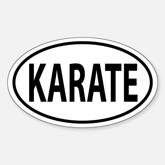 Karate Oval decal Sticker (Oval)