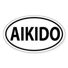 Aikido Oval decal Decal