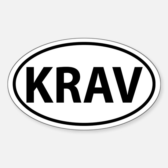Krav Oval decal Sticker (Oval)