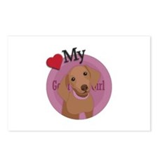 Love good girl Daschund Postcards (Package of 8)