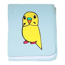 Cute Yellow budgie baby blanket
