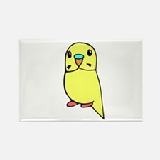 Cool Yellow budgie Rectangle Magnet