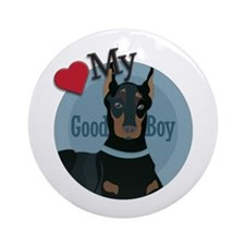 Love good boy Doberman Ornament (Round)
