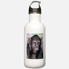 Chimp, colorful, Water Bottle