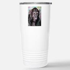 Chimp, striking, adorable, Travel Mug