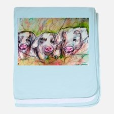 Three Little Pigs, Cute, Infant Blanket