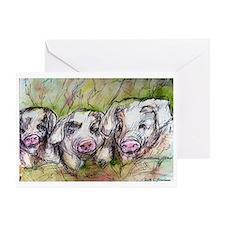 Three Little Pigs, Cute, Greeting Card