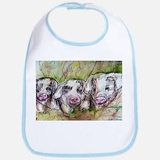 Three Little Pigs, Cute, Bib