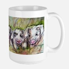 Three Little Pigs, Cute, Large Mug