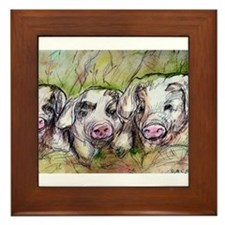 Three Little Pigs, Cute, Framed Tile