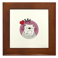 Lov good girl Bulldog Framed Tile