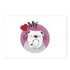 Lov good girl Bulldog Postcards (Package of 8)