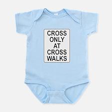 Cross Walks Rules Infant Bodysuit