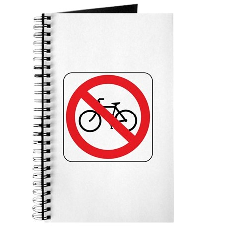 No Bicycles Sign Journal