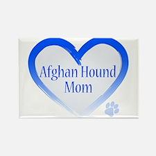 Afghan Blue Heart Rectangle Magnet