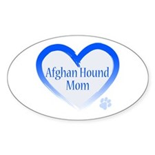 Afghan Blue Heart Decal