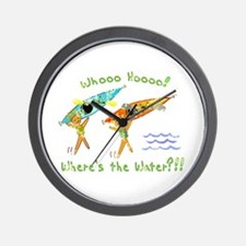 Where's the Water Wall Clock
