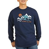 Skiing Long Sleeve T-shirts (Dark)