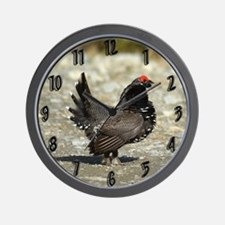 Male spruce grouse 2 Wall Clock