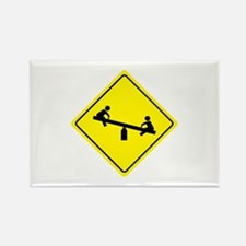 Playground Sign Rectangle Magnet (10 pack)