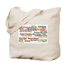 Shakespeare Plays Tote Bag