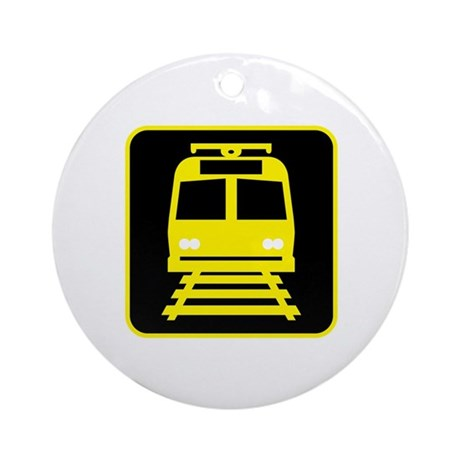 Light Rail Transit Sign Ornament (Round)