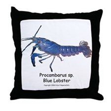 Blue Lobster Throw Pillow