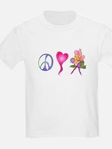 Peace,Luv,Fairies T-Shirt