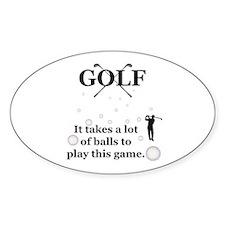 Golfer Balls Decal