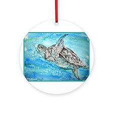 Sea Turtle, Nature Lover's, Ornament (Round)