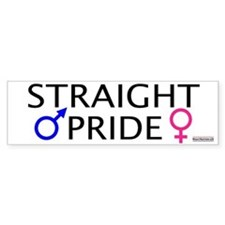Straight Pride<br>Bumper Bumper Sticker