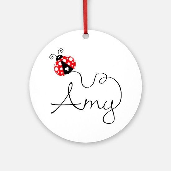 Ladybug Amy Ornament (Round)