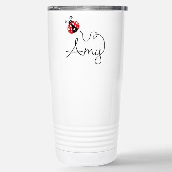 Ladybug Amy Stainless Steel Travel Mug