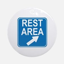 Rest Area Sign Ornament (Round)