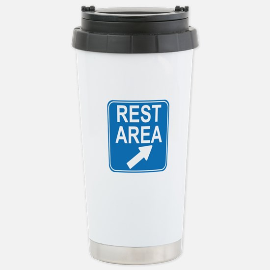 Rest Area Sign Stainless Steel Travel Mug