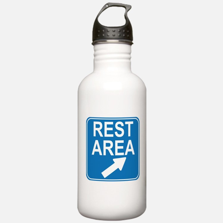 Rest Area Sign Water Bottle