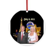 Terri Las Vegas Wedding Ornament (Round)