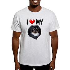 I Love My Pekingese (black) T-Shirt
