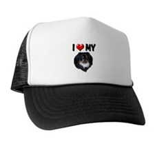 I Love My Pekingese (black) Trucker Hat