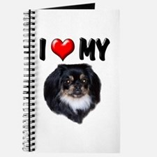I Love My Pekingese (black) Journal