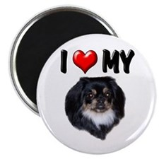 I Love My Pekingese (black) Magnet