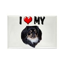 I Love My Pekingese (black) Rectangle Magnet (100