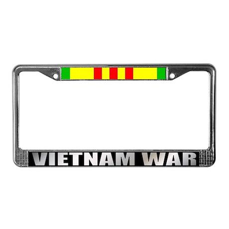 Vietnam Veteran Service Ribbon License Plate Frame