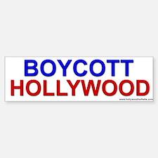 Boycott Hollywood<br>Bumper Car Car Sticker